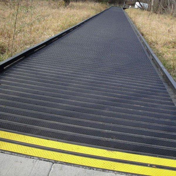Stop the Slip with Handi-Treads Anti-Slip Aluminum Treads on your metal ramp